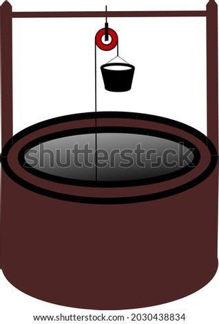Javanese traditional dug well vector illustration Stock fotó ©