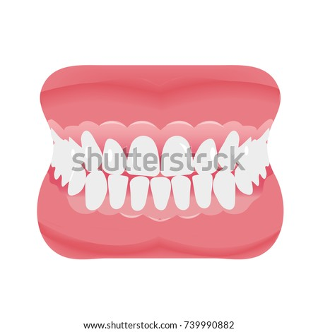 jaw with teeth icon flat style