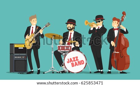 jazz band vector illustration