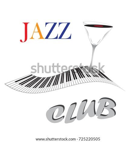 jazz club inscription  martini