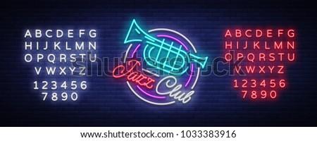jazz club neon vector neon