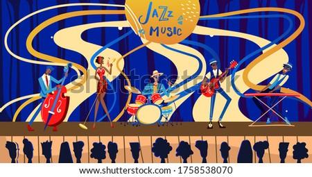 jazz festival concert vector