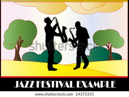 Jazz Festival Flyer - stock vector