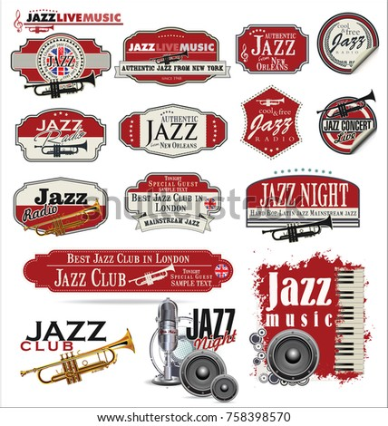 Jazz music badge collection #758398570