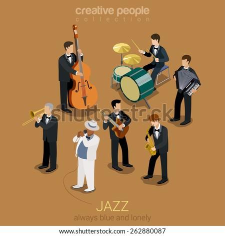 jazz music band flat 3d web