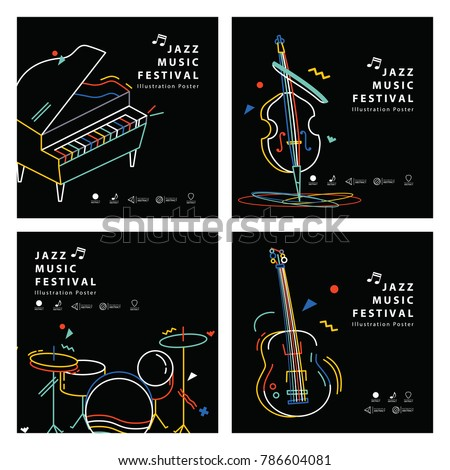 jazz music banner poster square