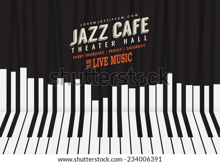 jazz music  poster background