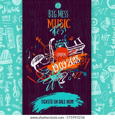 jazz music poster  ticket or
