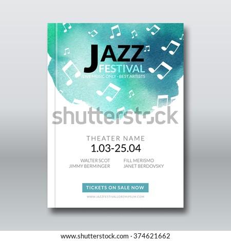 jazz music vector poster design