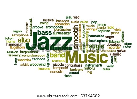 Jazz Music - Word Cloud
