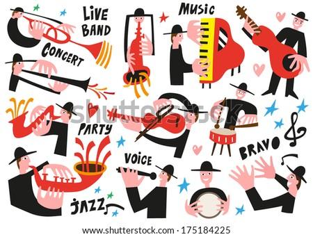 jazz musicians set 2   vector