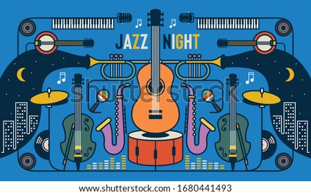 jazz night music banner poster
