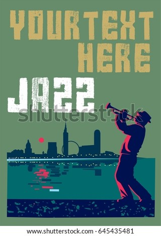 jazz poster can be used for