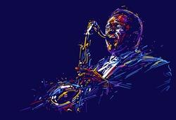 Jazz saxophone player. vector illustration for jazz poster.