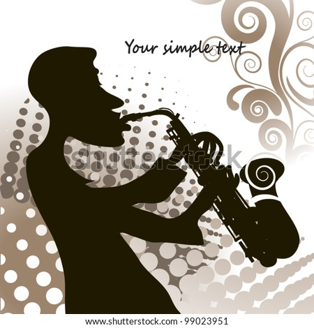 Jazz saxophonist retro #99023951
