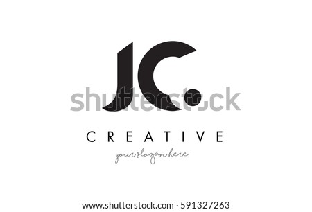 jc letter logo design with