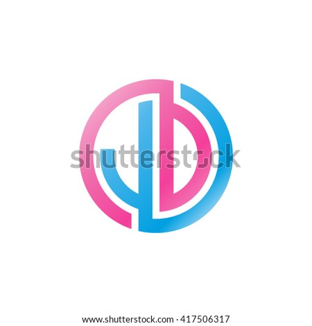 vector images illustrations and cliparts jd initial letters looping linked circle logo blue pink hqvectors com hqvectors com