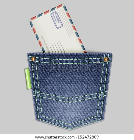 Jeans Back Pocket Texture Jeans back pocket with an