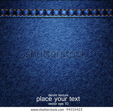 Jeans background. Vector
