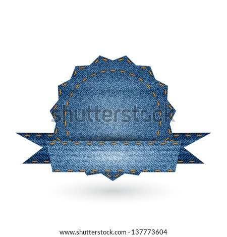 Jeans badge icon. Vector illustration