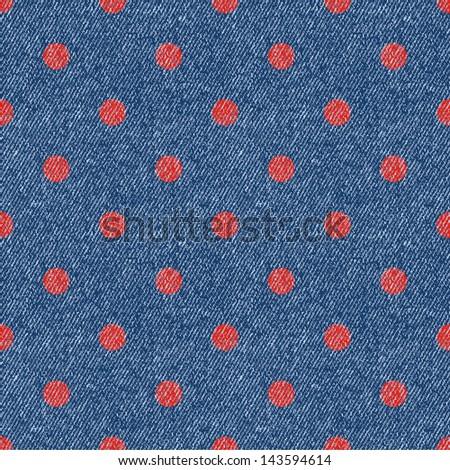 jeans geometric retro seamless polka-dot background