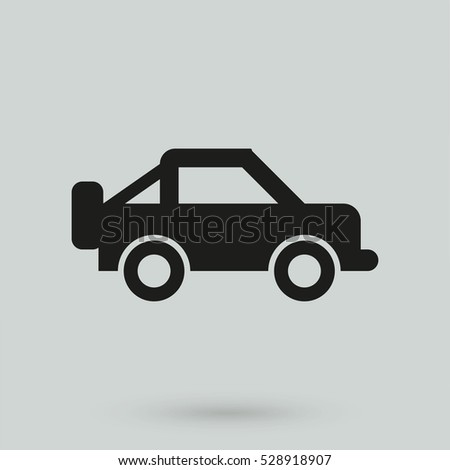 Jeep icon isolated on background. Modern flat pictogram, business, marketing, internet concept. Trendy Simple vector symbol for web site design or button to mobile app. Logo illustration
