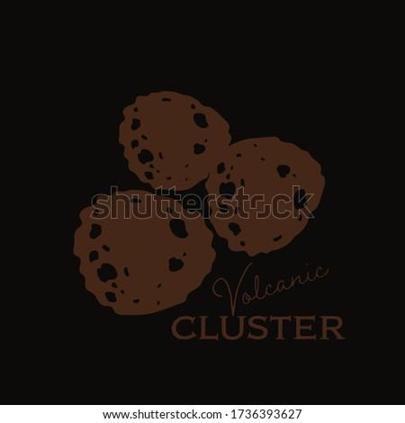 Jeju volcanic cluster natural skin care vector illustration Photo stock ©