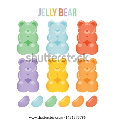 Jelly bears fruit gummy. Character Illustrator vector design - Vector