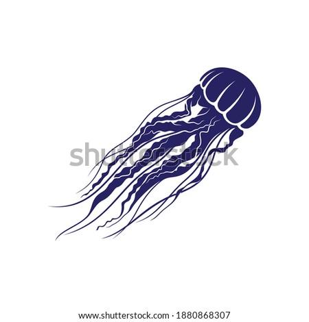 Jellyfish design vector illustration, Creative Jellyfish logo design concepts template, icon symbol Zdjęcia stock ©