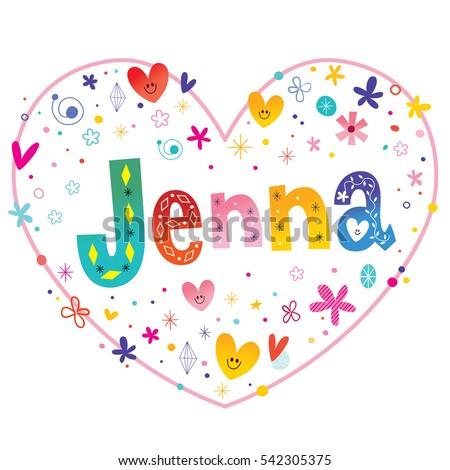 jenna girls name decorative