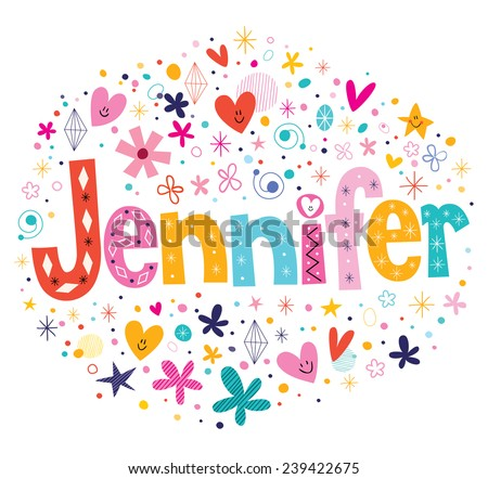jennifer female name decorative