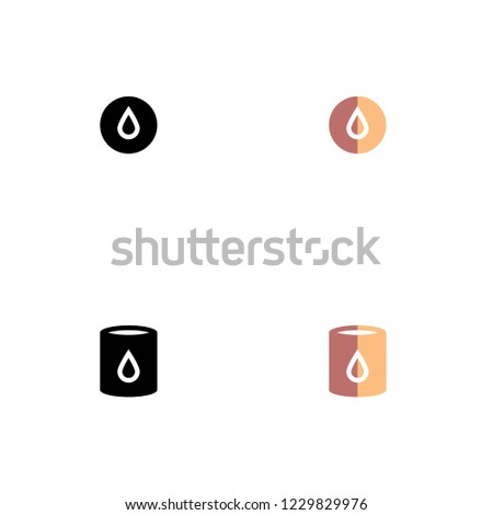 Jerry Can Icon Set. Flat Style. Line Style. Solid Style