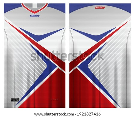 jersey fabric design can be used for sport team uniforms front rear view mockup vector  easy to customize. Photo stock ©
