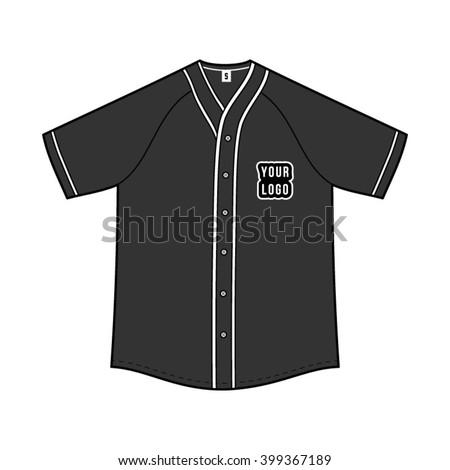 baseball jersey template vector. Black Bedroom Furniture Sets. Home Design Ideas