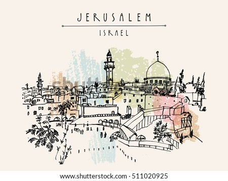 jerusalem  israel city skyline