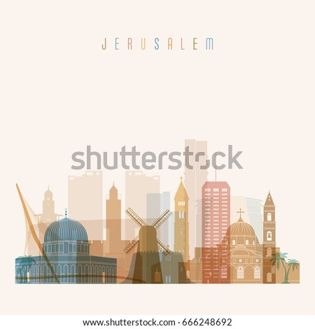 jerusalem skyline detailed