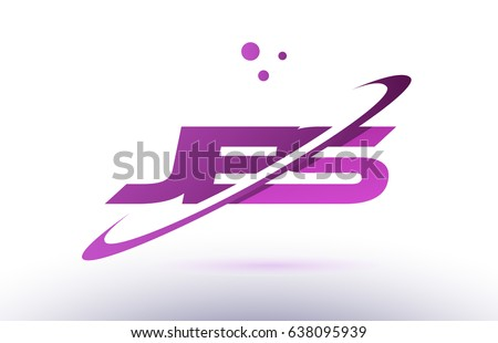 jes j e s  alphabet letter logo combination purple pink creative text dots company vector icon design template Foto stock ©