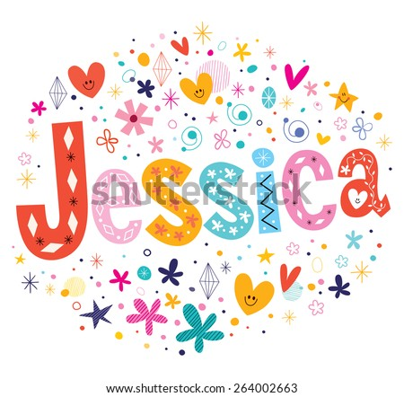jessica girls name decorative