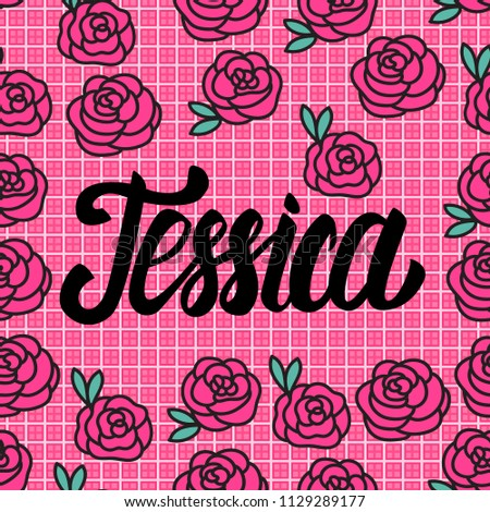 jessica name card with lovely
