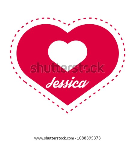 jessica woman name with heart