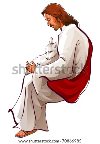 jesus - stock vector