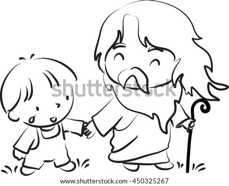 Vector Images, Illustrations and Cliparts Jesus and kids
