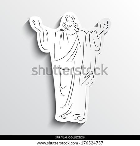 jesus christ abstract