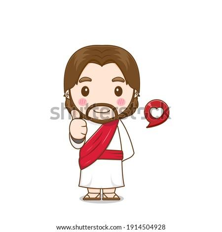 jesus christ posing thumb up