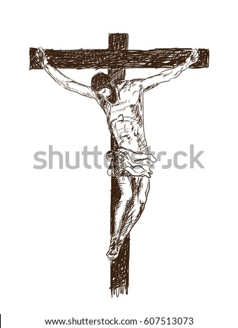 Jesus Christ The Son Of God In A Crown Of Thorns On His Head A