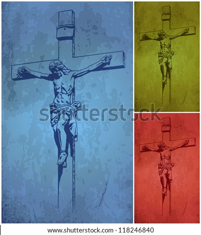 Jesus Christ, vector, crucifix, blessing, cross, Christianity