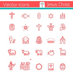 Jesus Christ,Vector icons