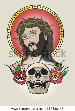 jesus christ vector traditional