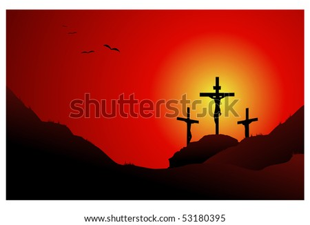 Jesus cross easter background