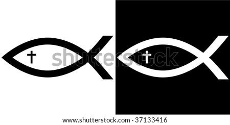 christian fish symbol download free vector art stock graphics rh vecteezy com Fish Vector Art jesus fish logo vector